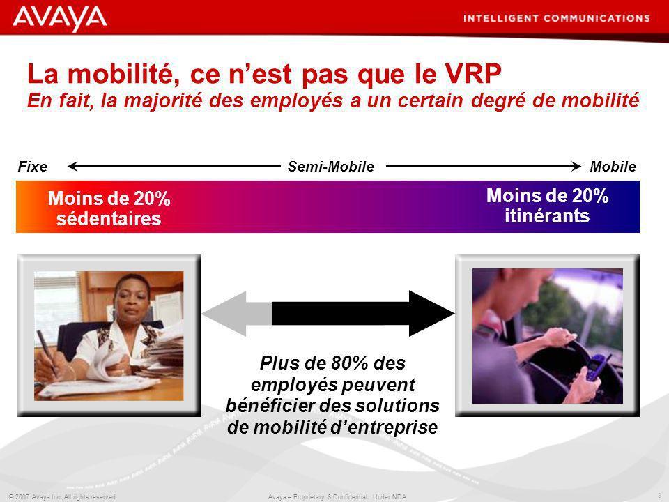 La mobilité, ce n'est pas que le VRP En fait, la majorité des employés a un certain degré de mobilité