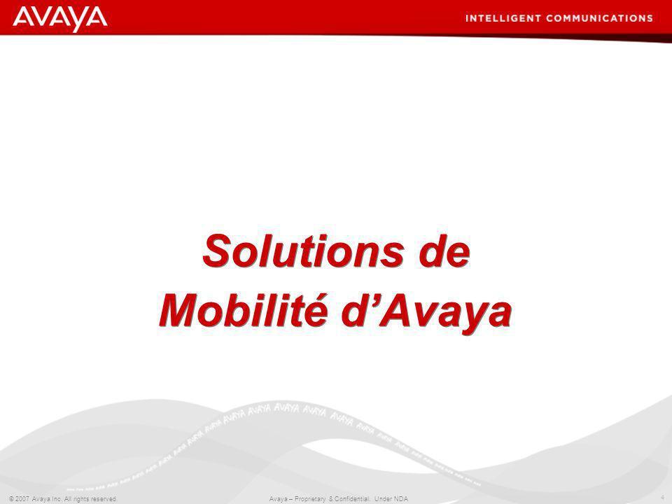 Solutions de Mobilité d'Avaya