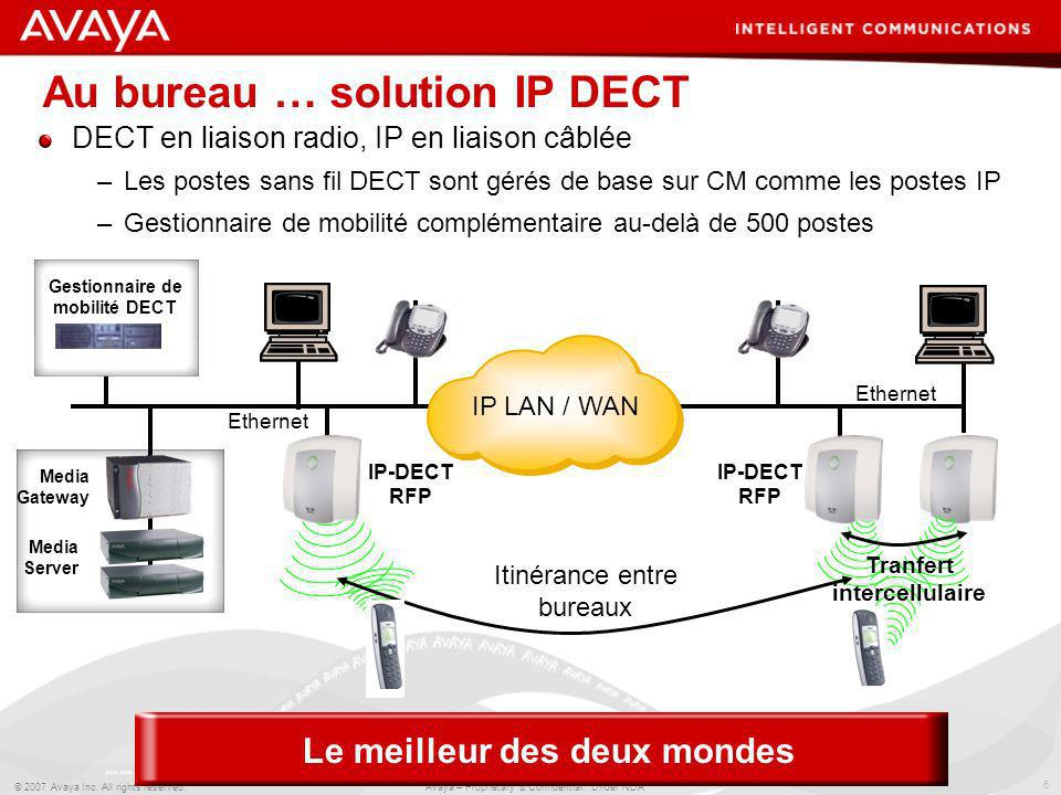 Au bureau … solution IP DECT