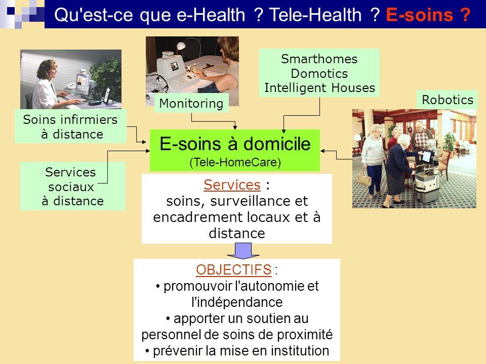 Qu est-ce que e-Health Tele-Health E-soins