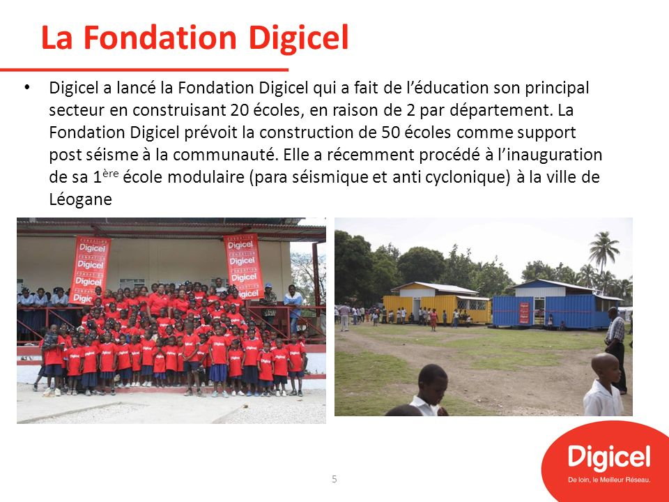 La Fondation Digicel