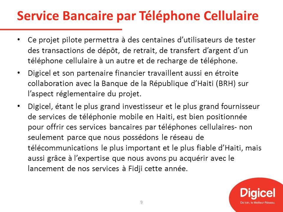 Service Bancaire par Téléphone Cellulaire