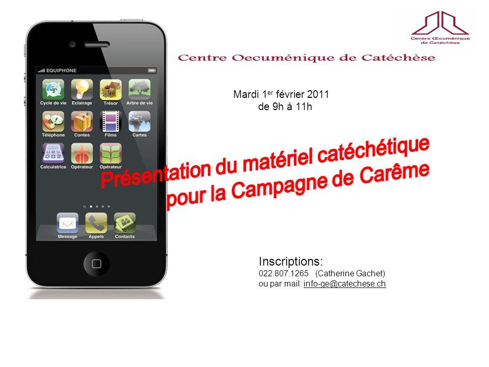 Présentation du matériel catéchétique pour la Campagne de Carême