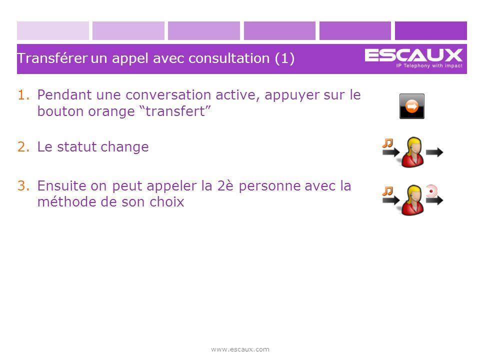 Transférer un appel avec consultation (1)