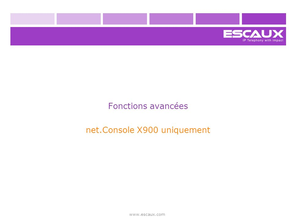 net.Console X900 uniquement