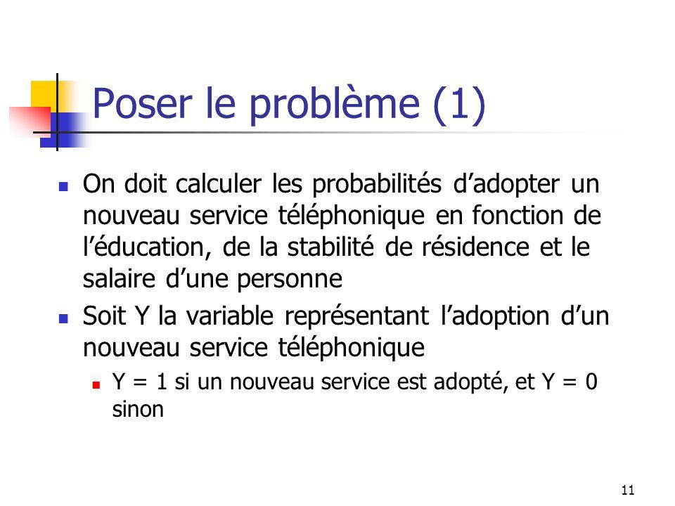 Poser le problème (1)