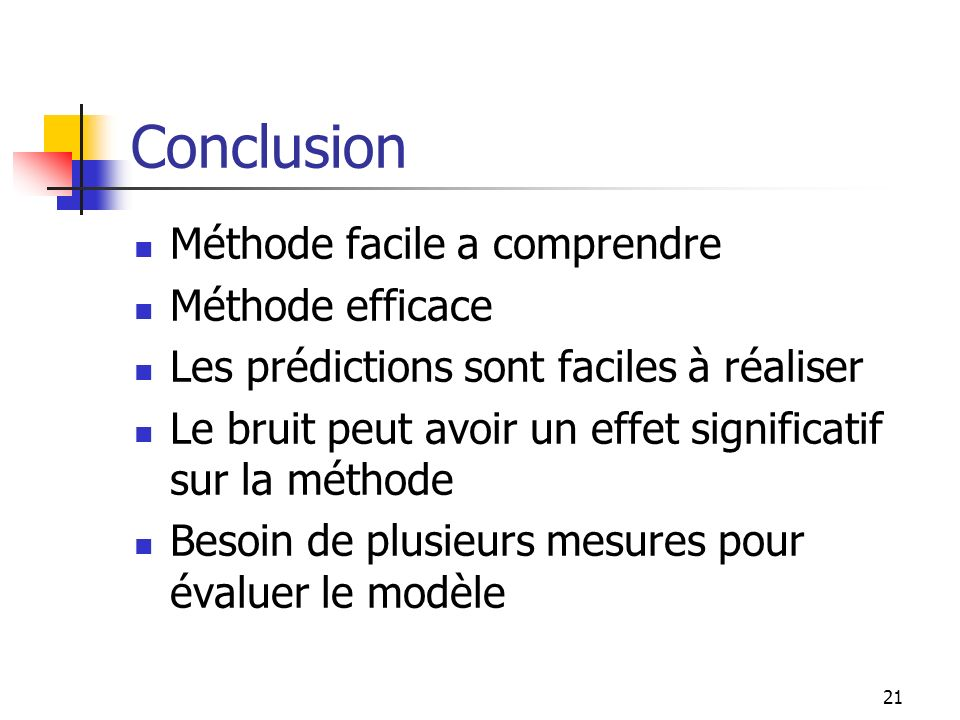 Conclusion Méthode facile a comprendre Méthode efficace