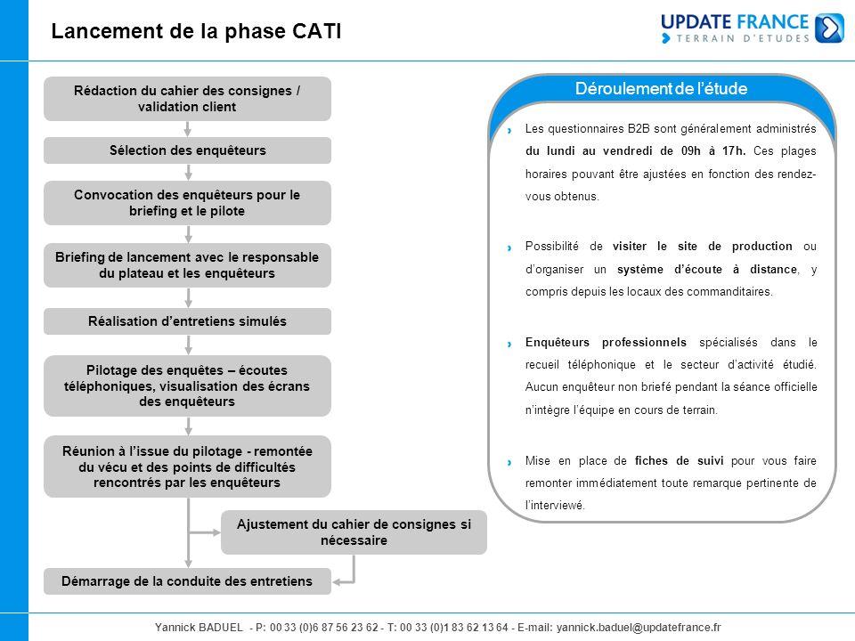 Lancement de la phase CATI