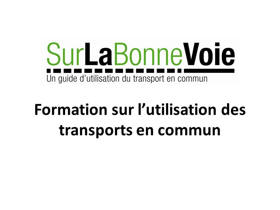 Formation sur l'utilisation des transports en commun