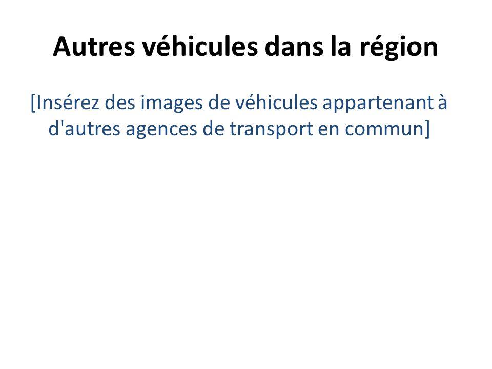 Autres véhicules dans la région