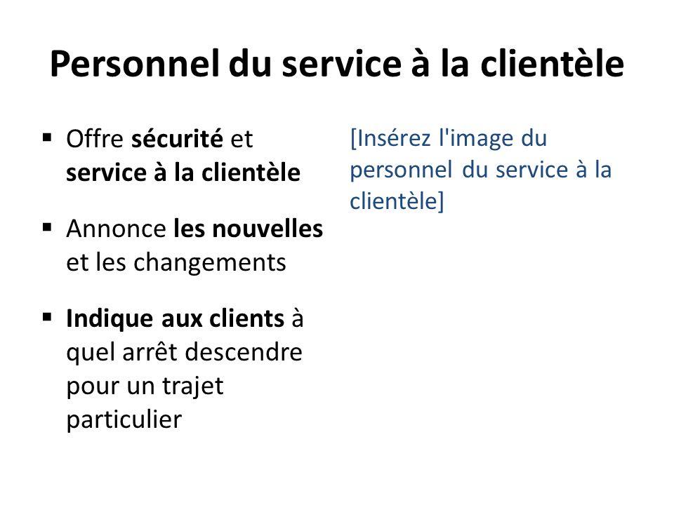 Personnel du service à la clientèle