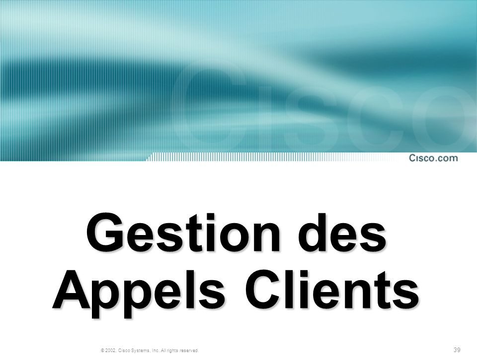 Gestion des Appels Clients