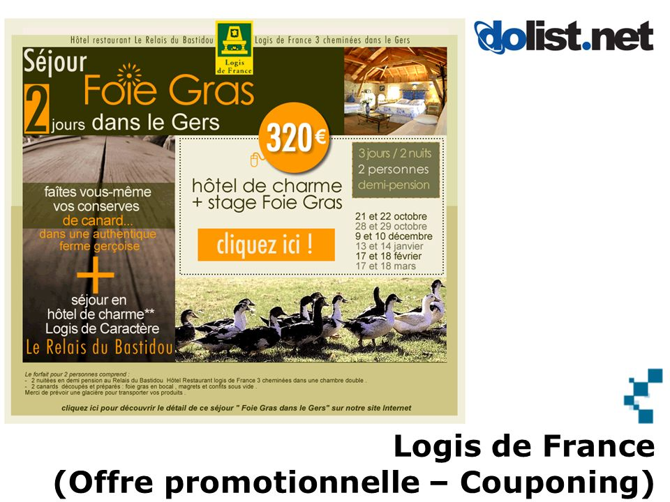 Logis de France (Offre promotionnelle – Couponing)