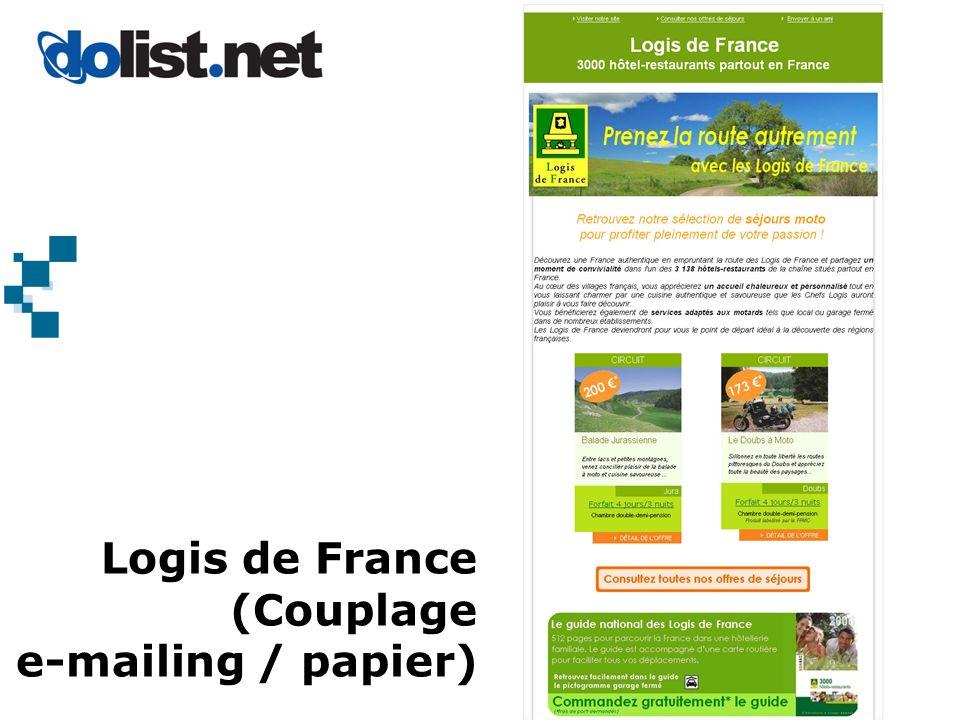 Logis de France (Couplage e-mailing / papier)