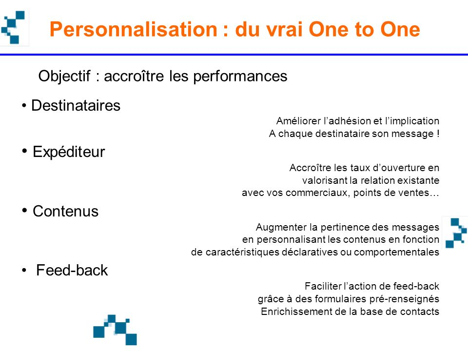 Personnalisation : du vrai One to One