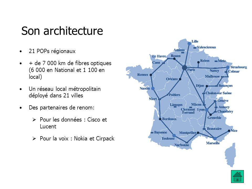 Son architecture 21 POPs régionaux