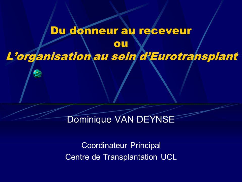 Du donneur au receveur ou L'organisation au sein d'Eurotransplant