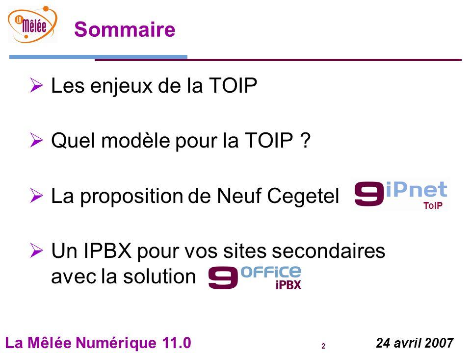 Quel modèle pour la TOIP La proposition de Neuf Cegetel