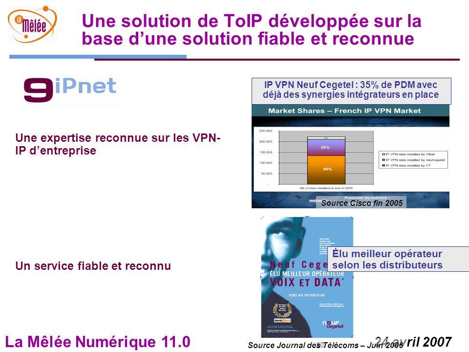 Source Journal des Télécoms – Juin 2006