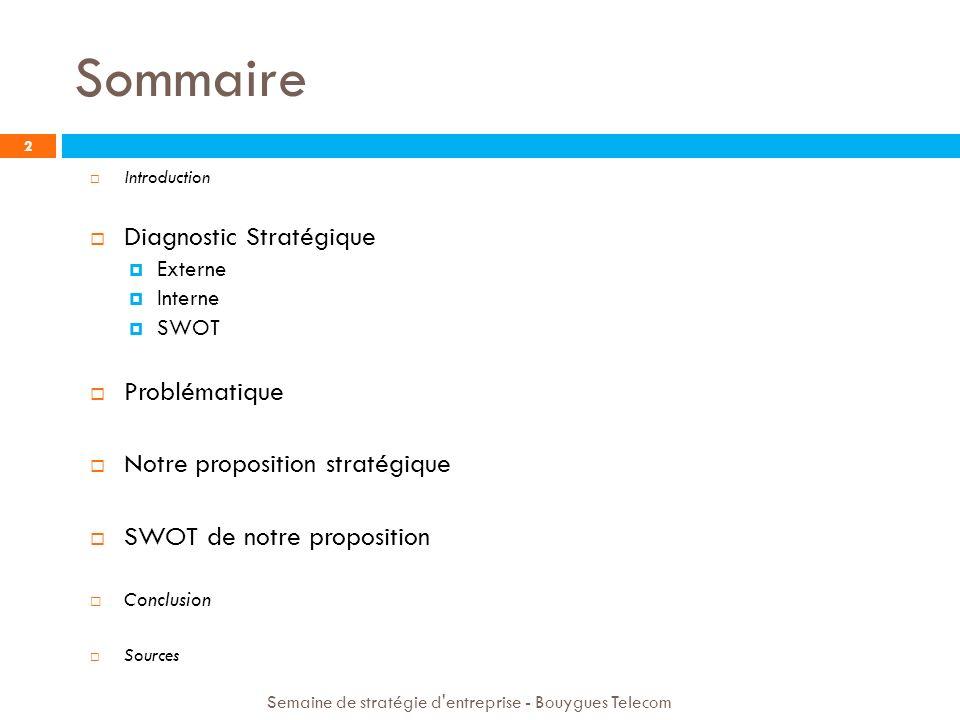 Sommaire Diagnostic Stratégique Problématique