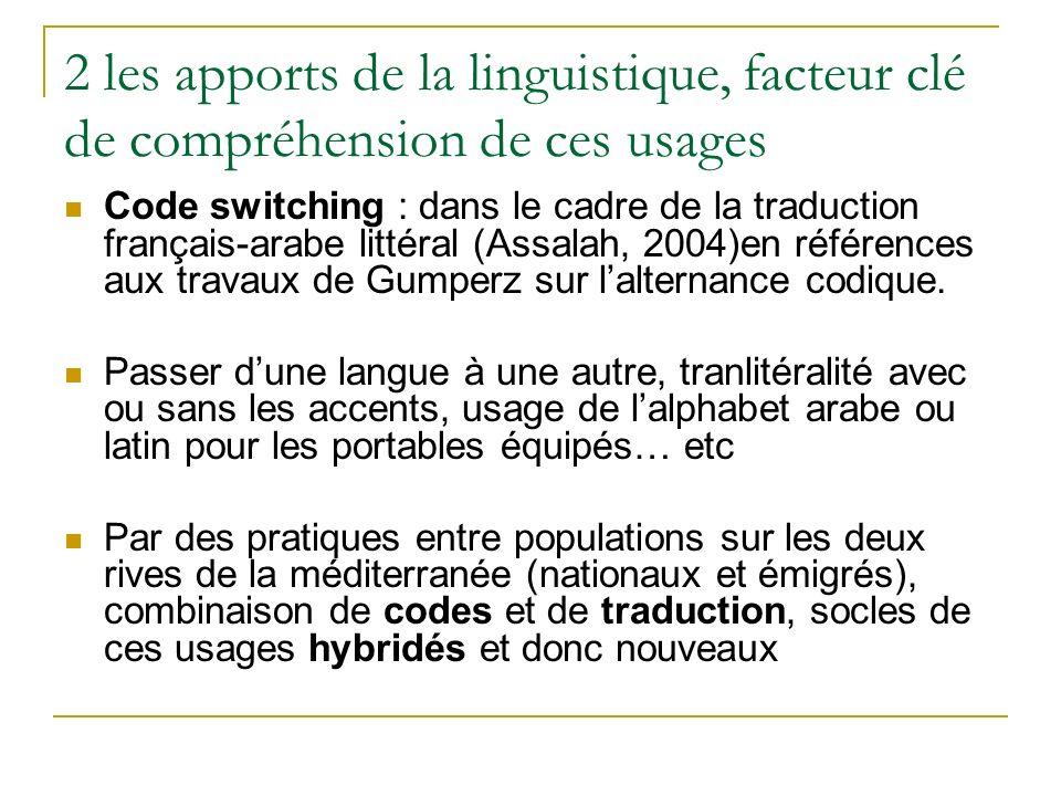 2 les apports de la linguistique, facteur clé de compréhension de ces usages