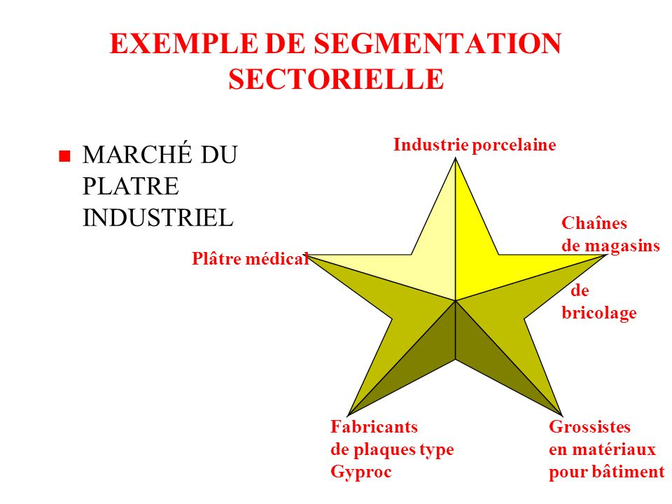 EXEMPLE DE SEGMENTATION SECTORIELLE