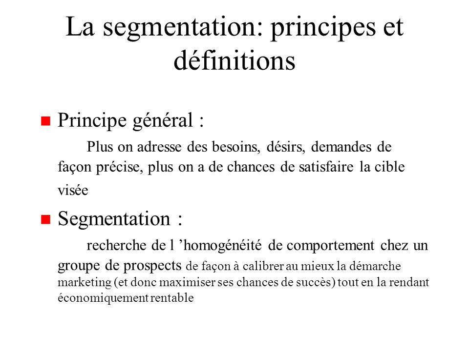 La segmentation: principes et définitions