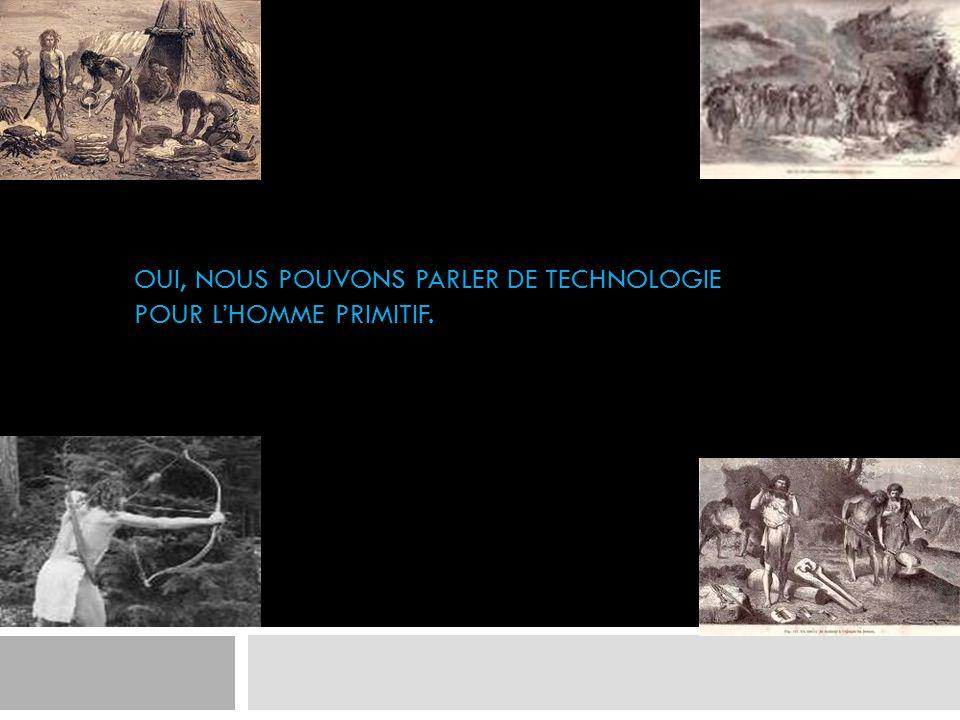 Oui, nous pouvons parler de technologie pour l'homme primitif.