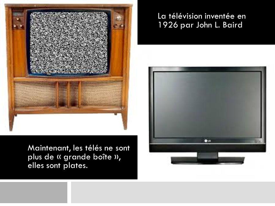La télévision inventée en 1926 par John L. Baird