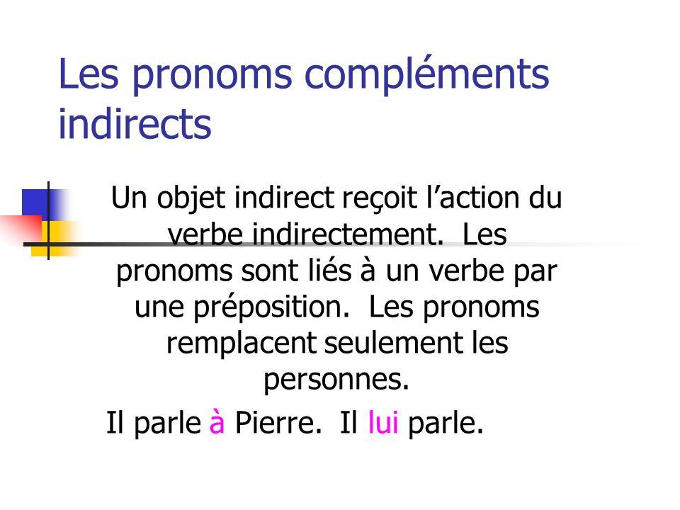 Les pronoms compléments indirects