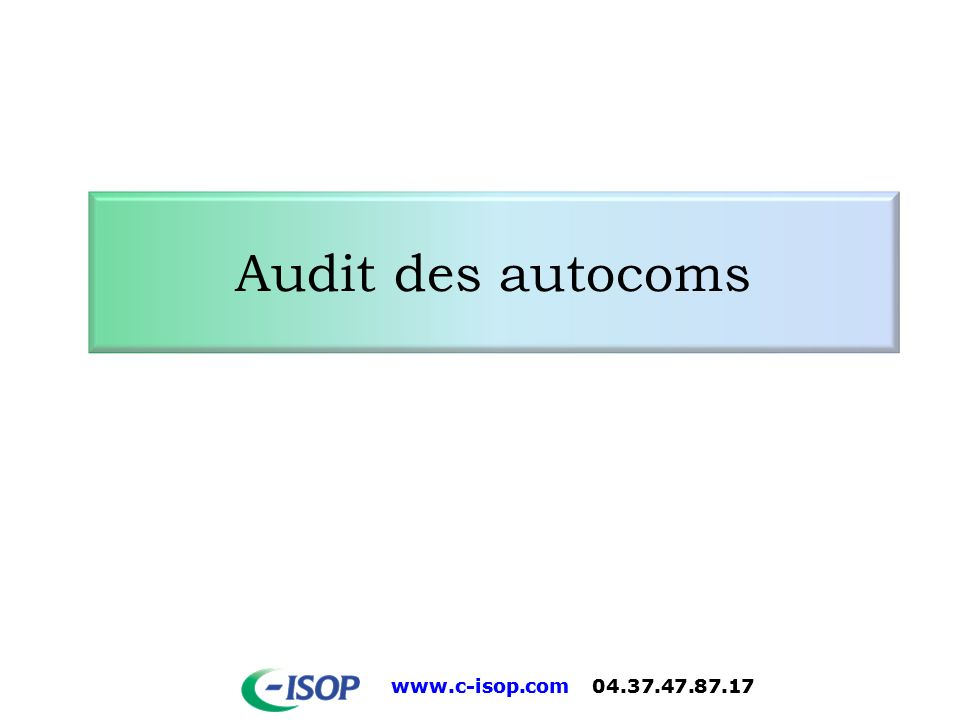 Audit des autocoms 19