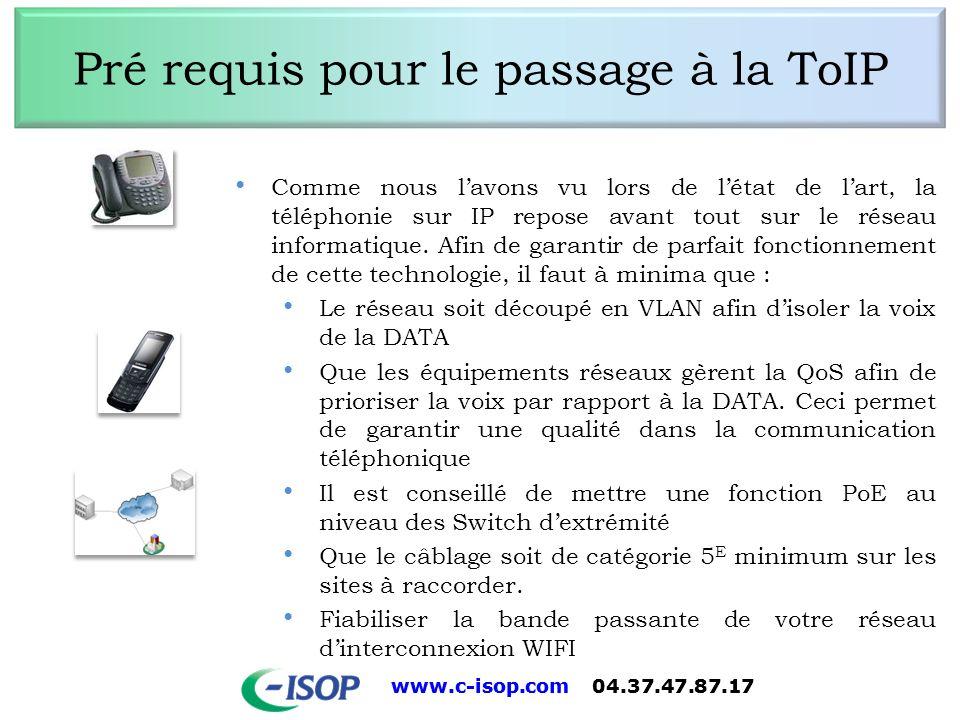 Pré requis pour le passage à la ToIP