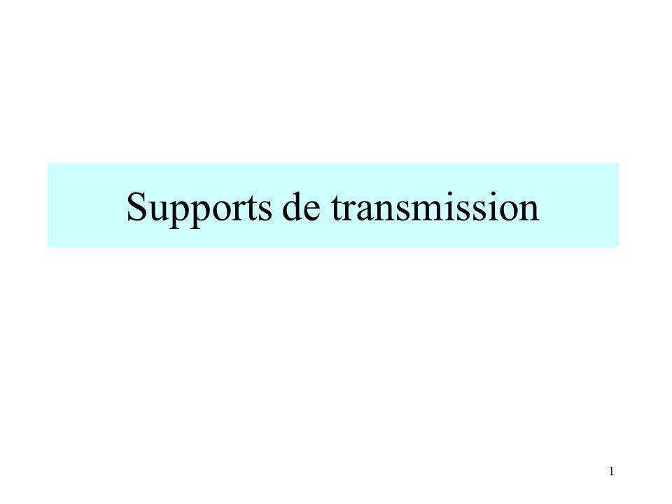 Supports de transmission