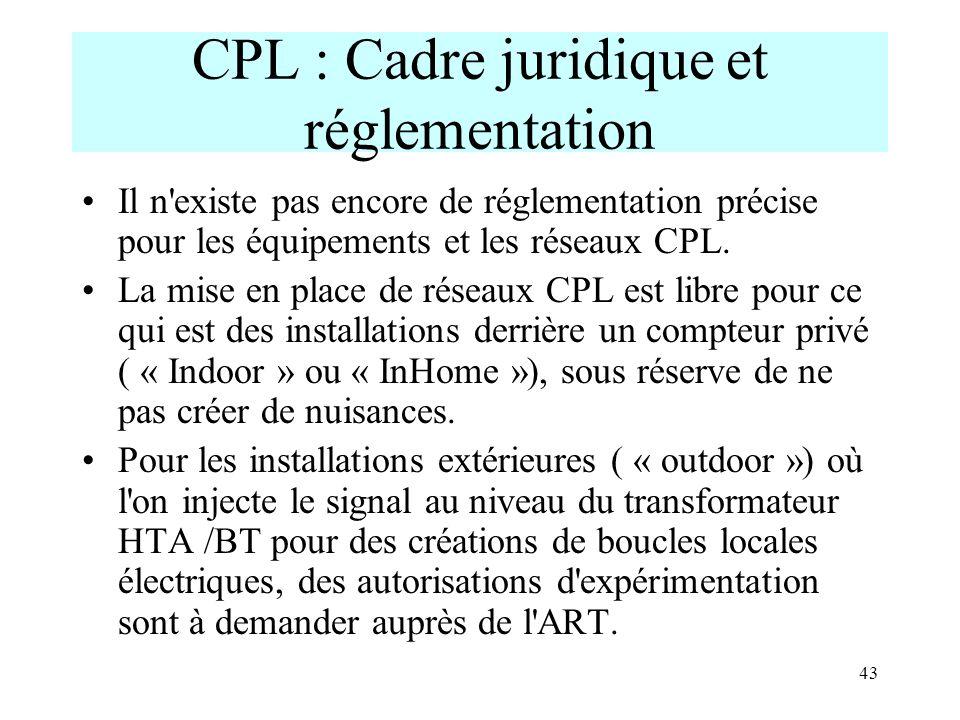 CPL : Cadre juridique et réglementation