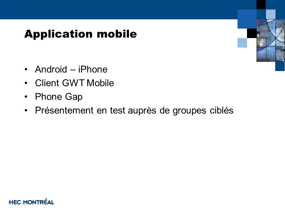 Application mobile Android – iPhone Client GWT Mobile Phone Gap