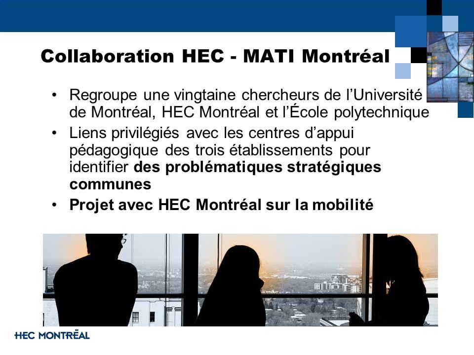 Collaboration HEC - MATI Montréal