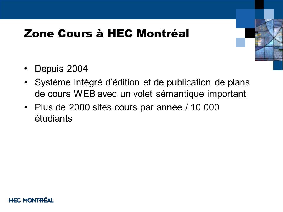 Zone Cours à HEC Montréal