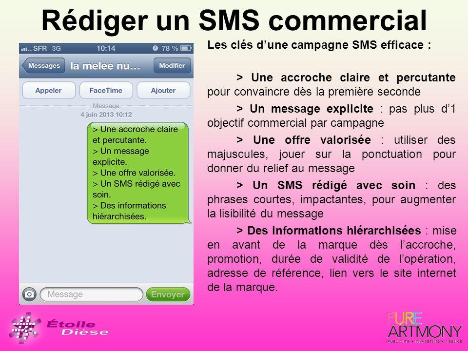 Rédiger un SMS commercial
