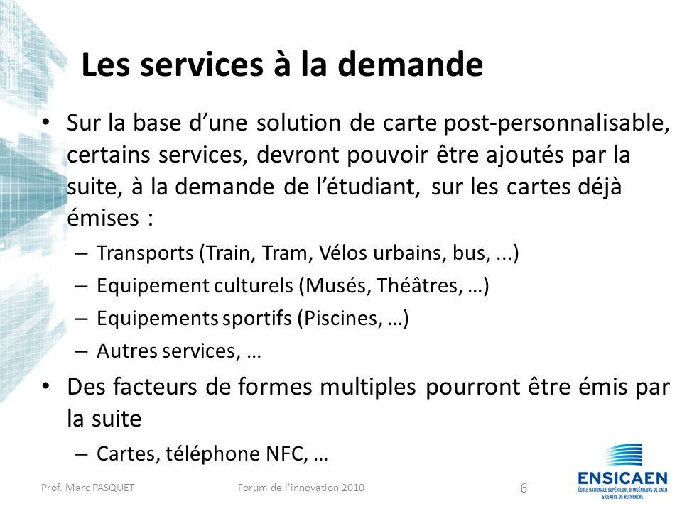 Les services à la demande