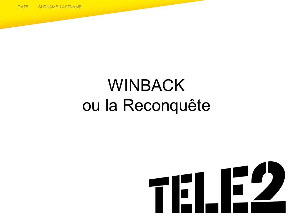 WINBACK ou la Reconquête