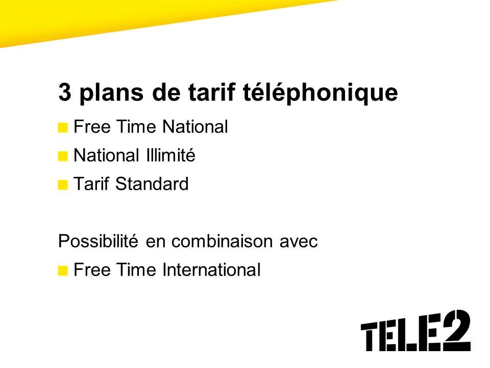 3 plans de tarif téléphonique