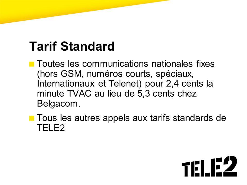 Tarif Standard