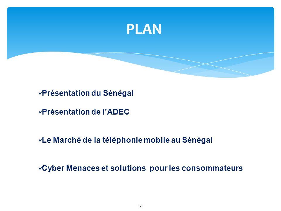 PLAN Présentation du Sénégal Présentation de l'ADEC
