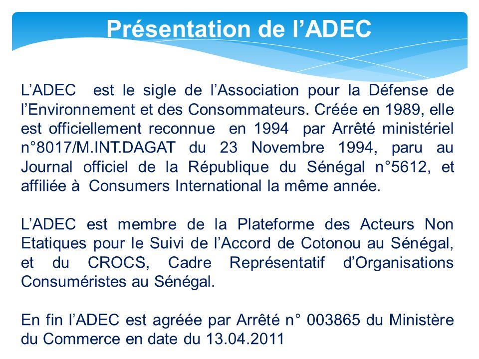 Présentation de l'ADEC