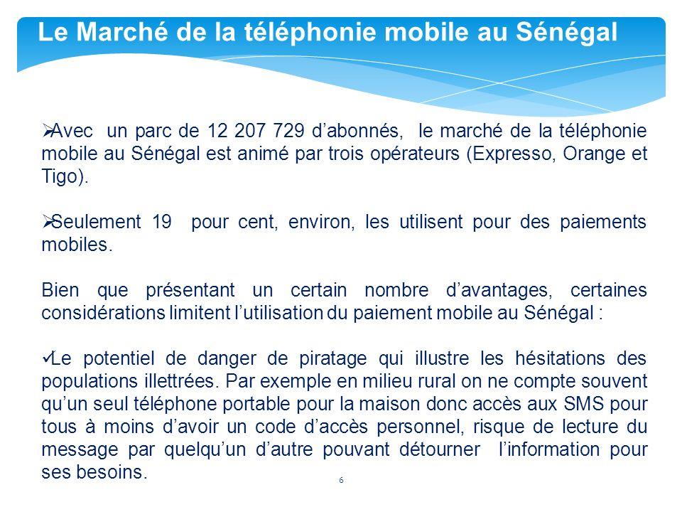 Le Marché de la téléphonie mobile au Sénégal