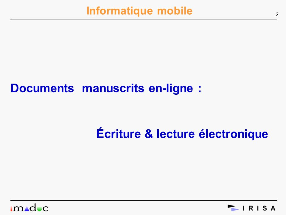 Documents manuscrits en-ligne :