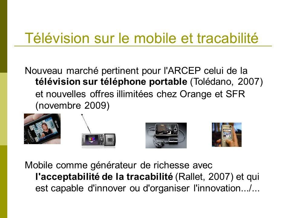 Télévision sur le mobile et tracabilité