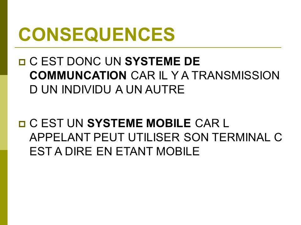 CONSEQUENCES C EST DONC UN SYSTEME DE COMMUNCATION CAR IL Y A TRANSMISSION D UN INDIVIDU A UN AUTRE.