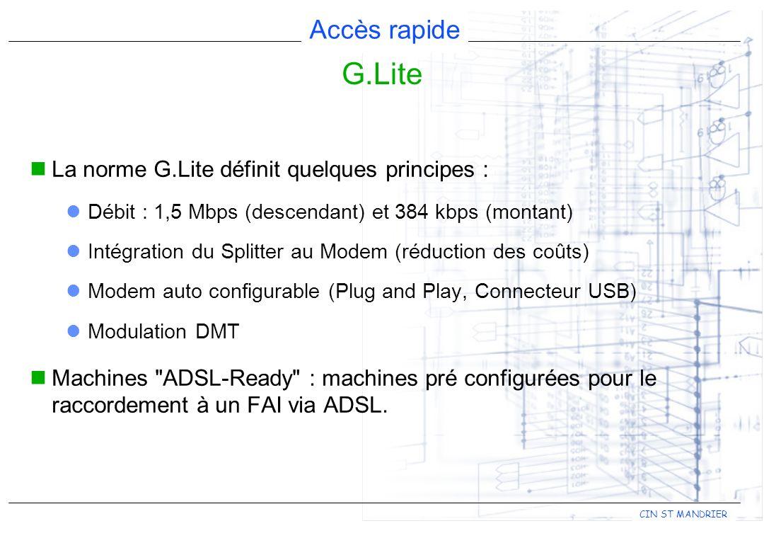 G.Lite La norme G.Lite définit quelques principes :