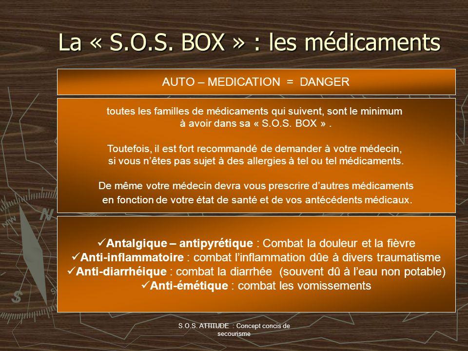 La « S.O.S. BOX » : les médicaments